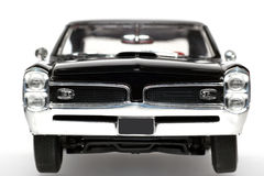 1966 Pontiac GTO metal scale toy car frontview. Picture of a 1966 Pontiac GTO. Detailed scale model from my brothers toy collection Stock Image