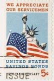 1966 uppskattar tappning för bondsmilitärstämpeln Royaltyfri Bild