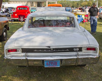 1966 White Chevy Chevelle SS Rear view Royalty Free Stock Image