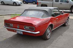 1967古色古香的camaro汽车薛佛列汽车 免版税库存照片