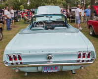 1967 Aqua Ford Mustang rear view Stock Photo