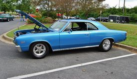 1967 Blue Chevy SS 396 Stock Images