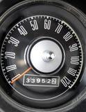 1967 de snelheidsmeter van de Mustang van de Doorwaadbare plaats Stock Fotografie