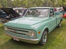 1968年Chevy卡车水色蓝色 库存图片