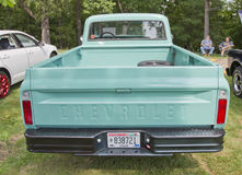 1968 mening van Aqua van de Vrachtwagen Chevy de Blauwe Achter Royalty-vrije Stock Foto's