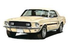 1968年1/2 Ford Mustang GT/CS 库存图片
