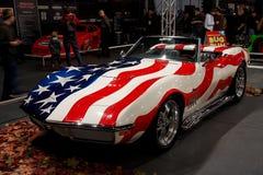 1969年Chevrolet Corvette黄貂鱼 库存照片