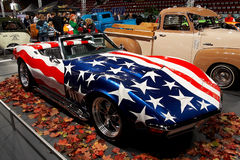 1969年Chevrolet Corvette黄貂鱼 免版税库存图片