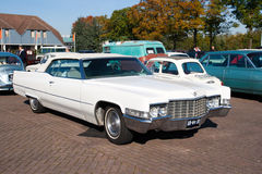1969 Cadillac Deville Convertible. ROSMALEN, THE NETHERLANDS - OCTOBER 15: A 1969 Cadillac Deville Convertible is shown at the Rock Around the Jukebox event on stock photo
