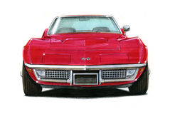 1969 Corvette Stingray. Illustration of a 1963 Chevrolet Corvette Stingray Royalty Free Illustration