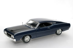 1969 Ford Torino Talladega metal scale toy car #2. Picture of a 1969 Ford Torino Talladega. Detailed scale model from my brothers toy collection Royalty Free Stock Photography
