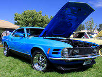 1970马赫1 Ford Mustang 免版税库存照片