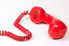 1970 1980 telefon för stil för classicvisartavlahus röda retro Fotografering för Bildbyråer