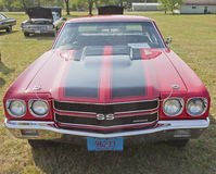 1970 Red Black Chevy Chevelle SS Front View Royalty Free Stock Images