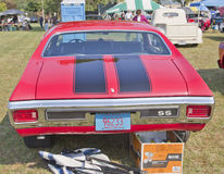1970 Red Black Chevy Chevelle SS Rear View Stock Photography