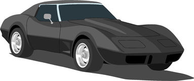 1970's Corvette Sports Car. A Vector .eps illustration of a 1970's Corvette sports car Stock Images