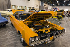 1970 Super Bee. HOUSTON - JANUARY 2012: A classic 1970 Super Bee at the Houston International Auto Show on January 28, 2012 in Houston, Texas Royalty Free Stock Photography
