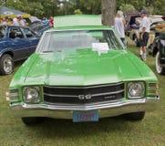 1971年Chevy Chevelle SS正面图 库存照片