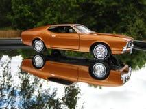 1971年Ford Mustang乘客端 免版税库存图片