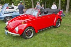 1971年Volkswagon超级甲虫臭虫 免版税库存照片