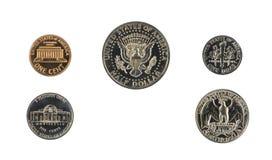 1971返回硬币证明集合端我们 图库摄影