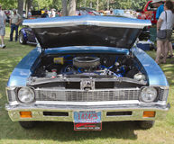 1971 blue Chevy Nova front view Royalty Free Stock Photography
