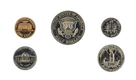 1971 US coin proof set back side Stock Photography