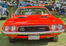 1972 Orange Dodge Challenger Front View Royalty Free Stock Photos