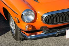 1973 Volvo Front End. Picture of 1973 Volvo Front End royalty free stock image