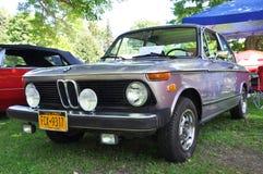 1974 BMW 2002古董车 免版税图库摄影