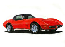 1974 Corvette Stingray. Illustration of a 1963 Chevrolet Corvette Stingray Royalty Free Stock Photography