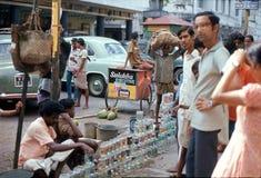 1975 Ινδία Καλκούτα πώληση ψαριών Στοκ Εικόνα