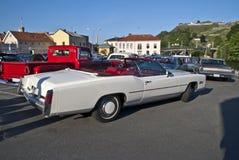 1976年卡迪拉克汽车convertibl黄金国会议 免版税库存图片