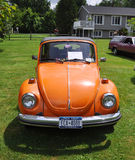 1976 Orange Volkswagen Beetle stock photography