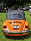 1976 Orange Volkswagen Beetle Stock Image
