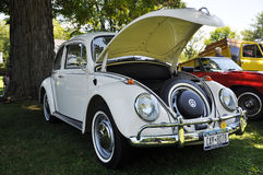 1976 white Volkswagen Beetle Stock Photos