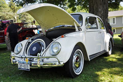 1976 white Volkswagen Beetle stock photo