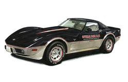 1978 Chevrolet Corvette Indy Pace Car. Illustration of a 1978 Chevrolet Corvette Indy Pace Car Stock Photo