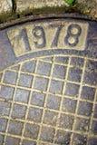 1978 - Numéro en métal. Images libres de droits