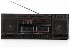 1980年boombox高保真老立体音响 免版税库存图片
