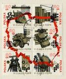 1980 около штемпеля почтоваи оплата polska соединения Стоковые Фотографии RF