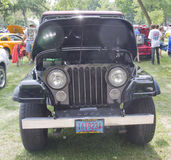 1980 Jeep Scrambler front view. WAUPACA, WI - AUGUST 25: Front of 1980 Jeep Scrambler at the 10th Annual Waupaca Rod & Classic Car Club Car Show on August 25 Stock Photos