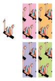 1980 pattern seamless style Απεικόνιση αποθεμάτων
