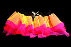 1980s lumo fancy dress skirt. On black background stock images