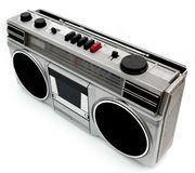 1980s style portable cassette player Royalty Free Stock Images
