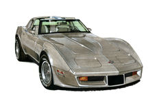 1982 Corvette. Illustration of a 1982 Chevrolet Corvette Collector Edition Royalty Free Stock Images