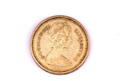 1983 het muntstuk van Koningin Elizabeth Stock Afbeeldingen