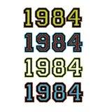 1984枚徽章集 免版税库存照片