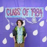 1984选件类毕业 免版税库存照片