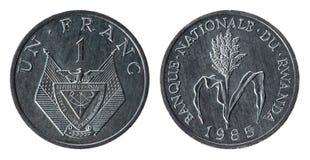 1985枚硬币卢旺达年 免版税库存图片